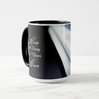 Piano Keep A Song In Your Heart Mug