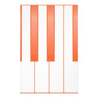 Piano Key Background Stationery
