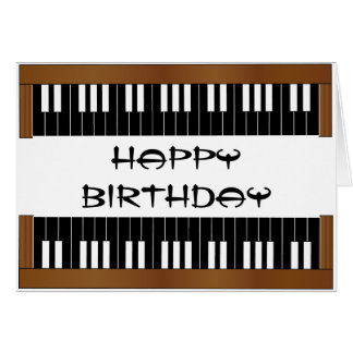 Piano Key Birthday Card