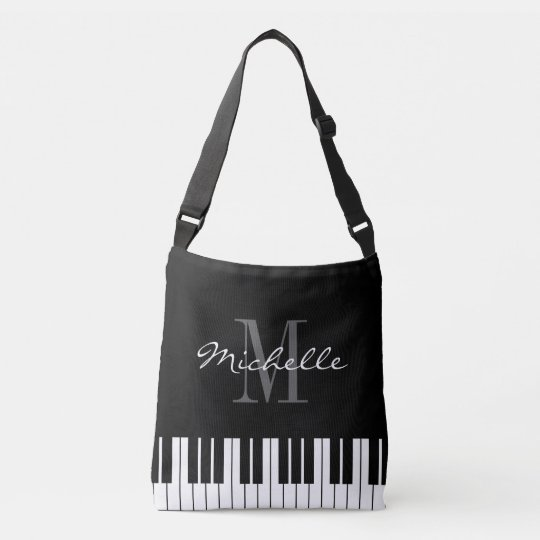 Piano key cross body bag for teacher or student
