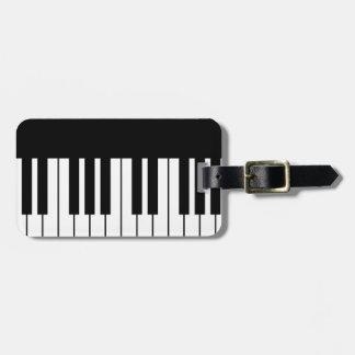 Piano Key Luggage Tag