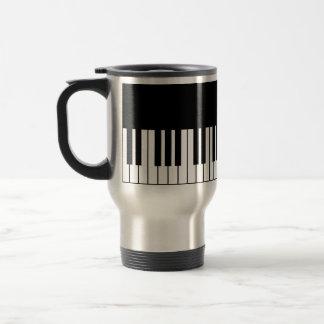 Piano Key Stainless Steel Travel Mug