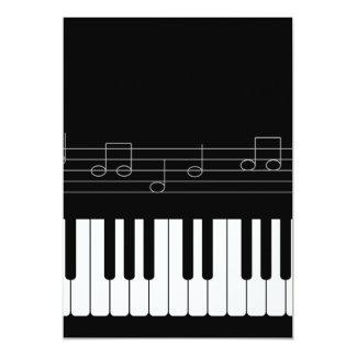 Piano keyboard 13 cm x 18 cm invitation card