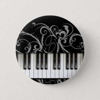 Piano Keyboard 6 Cm Round Badge