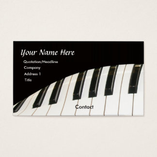 Piano business cards militaryalicious piano business cards colourmoves