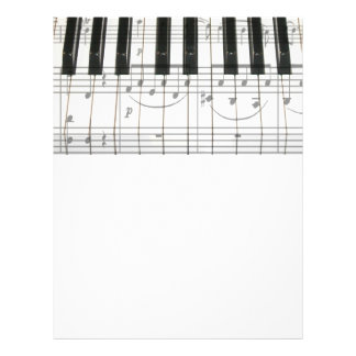 Piano Keyboard and Music Notes 21.5 Cm X 28 Cm Flyer