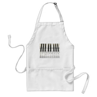 Piano Keyboard and Music Notes Standard Apron