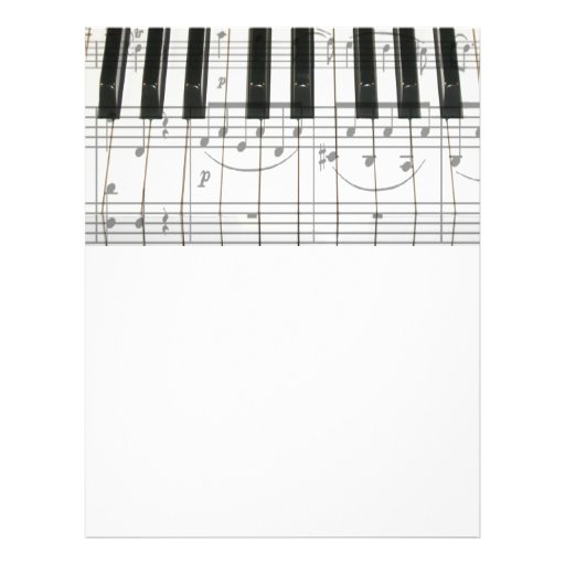 Piano Keyboard and Music Notes Flyer