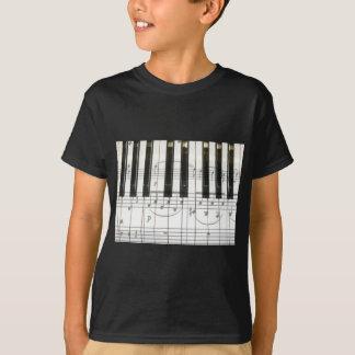 Piano Keyboard and Music Notes T-Shirt