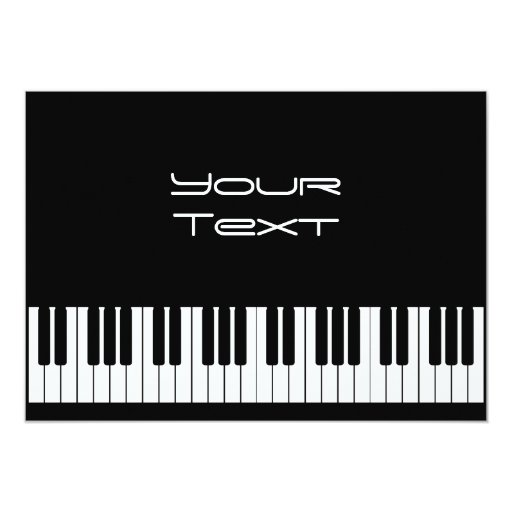 "Piano Keyboard Announcement 5"" X 7"" Invitation Card"
