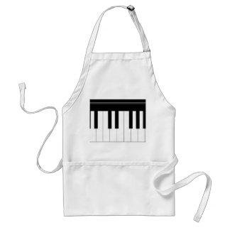 Piano keyboard adult apron