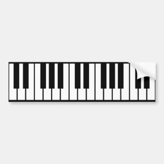Piano Keyboard Bumper Sticker