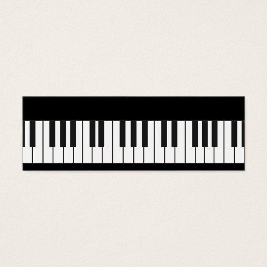 Piano Keyboard Calling Card