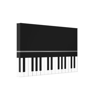 Piano keyboard gallery wrapped canvas
