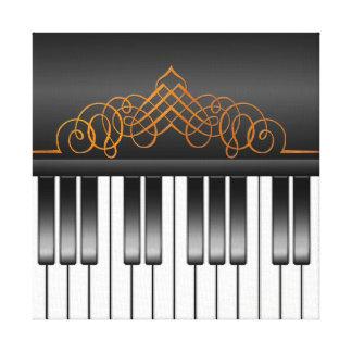Piano Keyboard Canvas Prints
