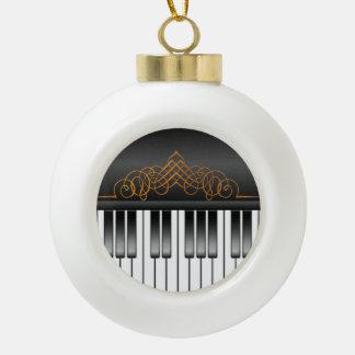 Piano Keyboard Ceramic Ball Decoration