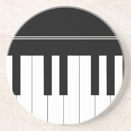 Piano keyboard drink coaster