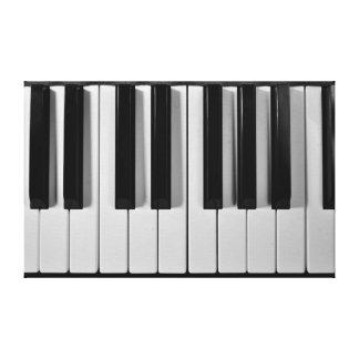 Piano Keyboard Custom Stretched Canvas Print
