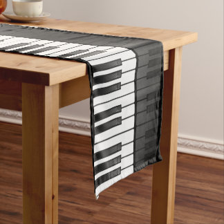 Piano Keyboard Design Table Runner