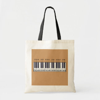 Piano Keyboard Diagram Tote Bag