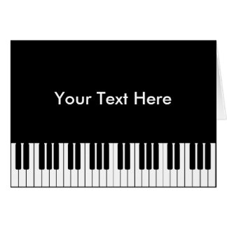 Piano Keyboard Greeting Card