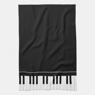 Piano keyboard hand towels