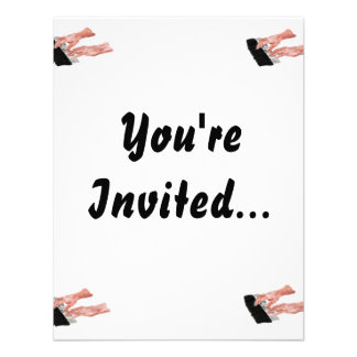 Piano keyboard hands playing keys design personalized announcements
