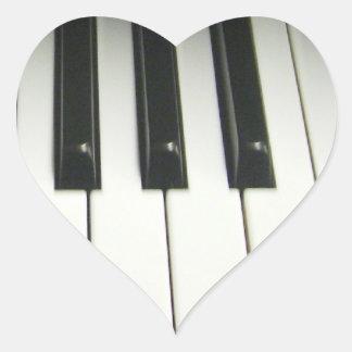 Piano Keyboard Heart Sticker