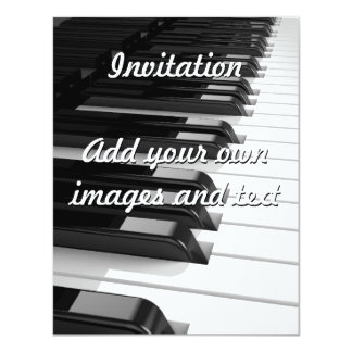 Piano Keyboard 11 Cm X 14 Cm Invitation Card
