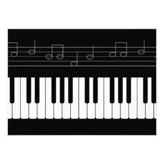 Piano keyboard custom announcements