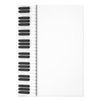 Piano keyboard invitations