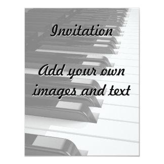 Piano Keyboard 11 Cm X 14 Cm Invitation Card