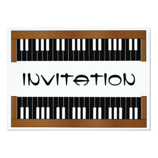 Piano Keyboard Invitation Card