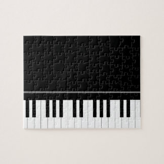 Piano keyboard jigsaw puzzle