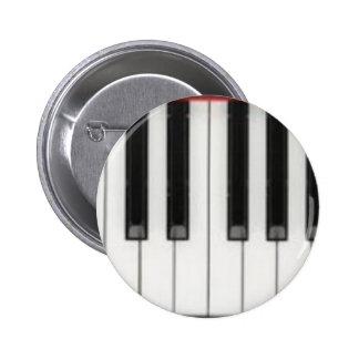Piano Keyboard Keys Pinback Buttons