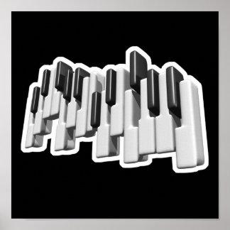 piano keyboard keys design poster