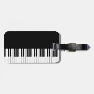 Piano Keyboard Keys Luggage Tag