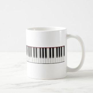 Piano Keyboard Keys Mugs