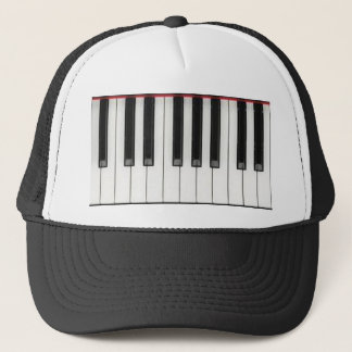 Piano Keyboard Keys Trucker Hat