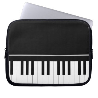 Piano keyboard laptop sleeve