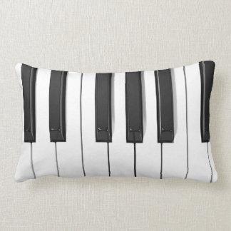 Piano Keyboard Lumbar Throw Pillow