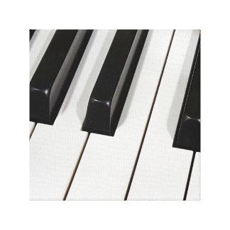 piano keyboard macro canvas print