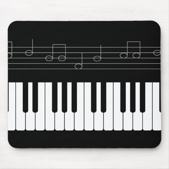 Piano keyboard mouse mat