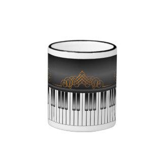 Piano Keyboard Coffee Mugs