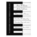 Piano Keyboard Music Wedding Invitation