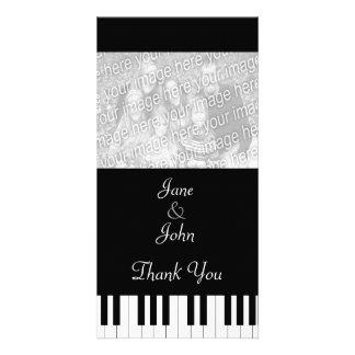 Piano Keyboard Music Wedding Photo Thank You Customised Photo Card