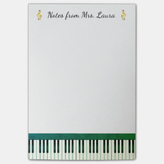Piano Keyboard Musical Instrument Gold for Pianist Post-it Notes