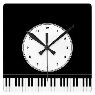 Piano keyboard musical wall clock