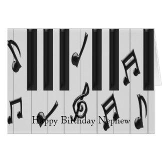 Piano Keyboard Nephew Birthday Greeting Card