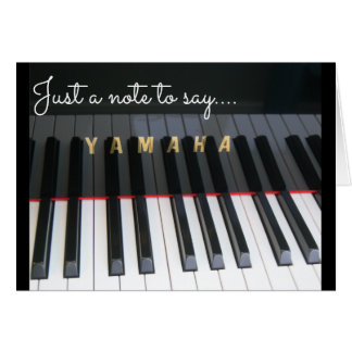 Piano keyboard notelet card